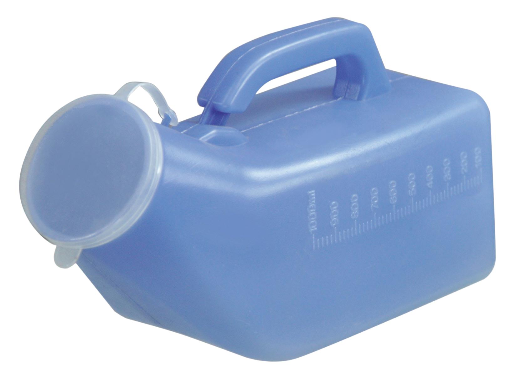 urinaal blauw man